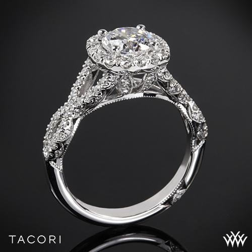 Tacori HT2549CU Petite Crescent Twisted Diamond Engagement Ring
