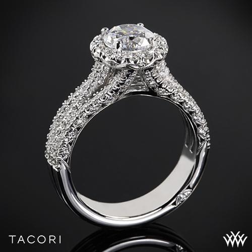 Tacori HT2551RD Petite Crescent Triple Row Diamond Engagement Ring