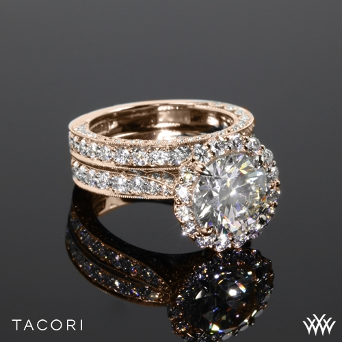 Tacori HT2605RD95 RoyalT Bloom Wedding Set