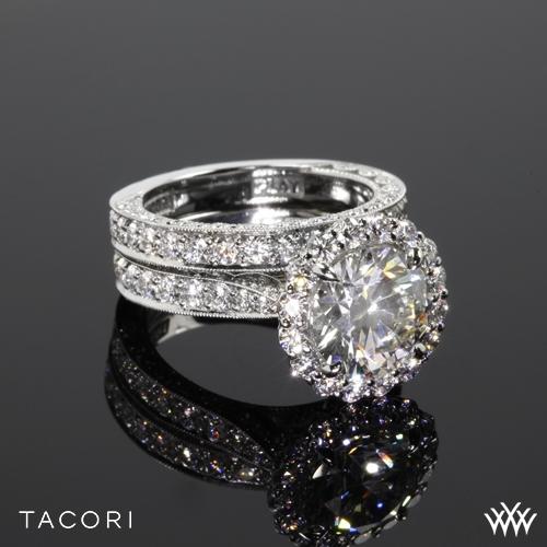 Tacori HT2605RD95 RoyalT Bloom Wedding Set