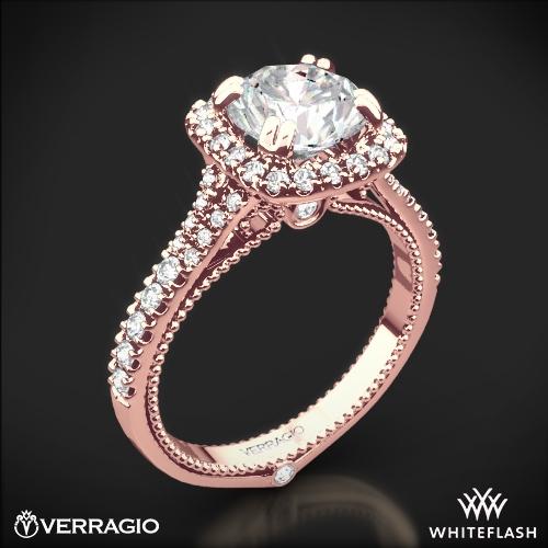 Verragio ENG-0424CU Split Claw Halo Diamond Engagement Ring