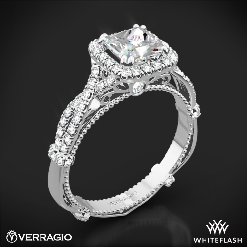 Verragio DL-106P Twisted Diamond Engagement Ring for Princess