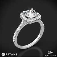 010b4bae0 Ritani French-Set Cushion Halo Diamond Band Engagement Ring | 4693