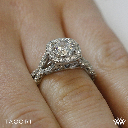 Tacori HT2549 CU 65 Petite Crescent Twisted Diamond Engagement Ring