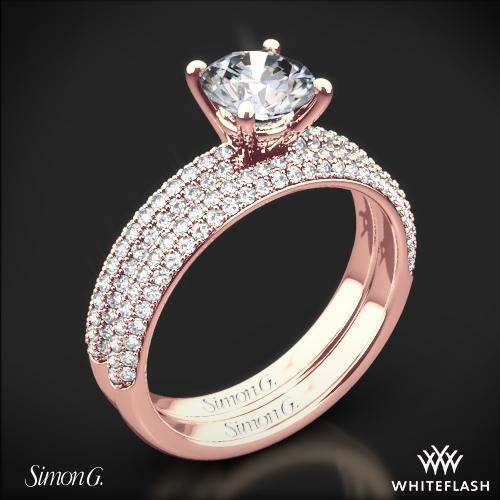 Simon G. LP1935-D Delicate Diamond Wedding Set