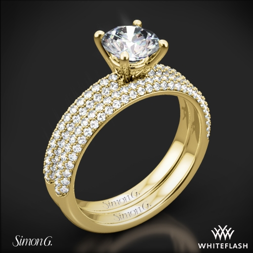 Simon G. LP1935-D Delicate Diamond Wedding Set