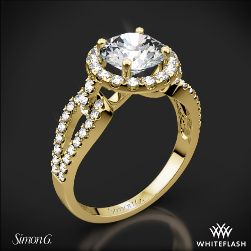 Simon G. LP2027 Passion Halo Diamond Engagement Ring