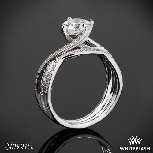 Simon G MR1394 Fabled Diamond Wedding Set