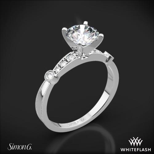 Simon G. MR1546-D Delicate Diamond Engagement Ring