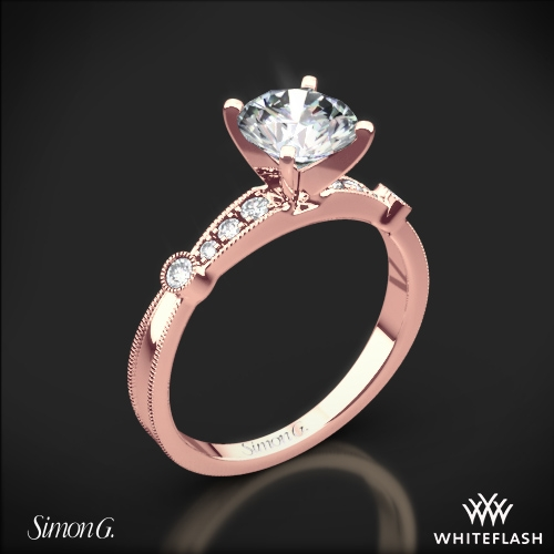 Simon G MR1546 D Delicate Diamond Engagement Ring