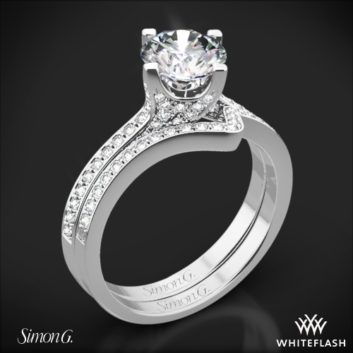 Simon G. MR1609 Caviar Diamond Wedding Set