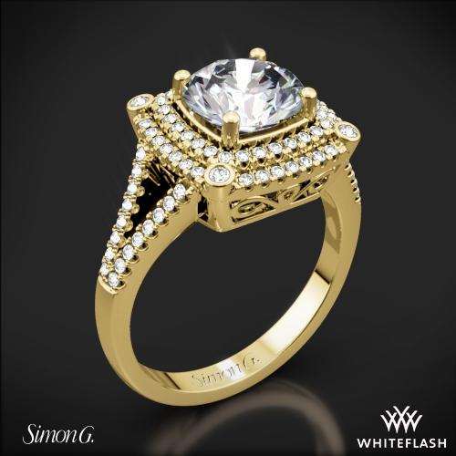 Simon G. MR2378-A Passion Double Halo Diamond Engagement Ring
