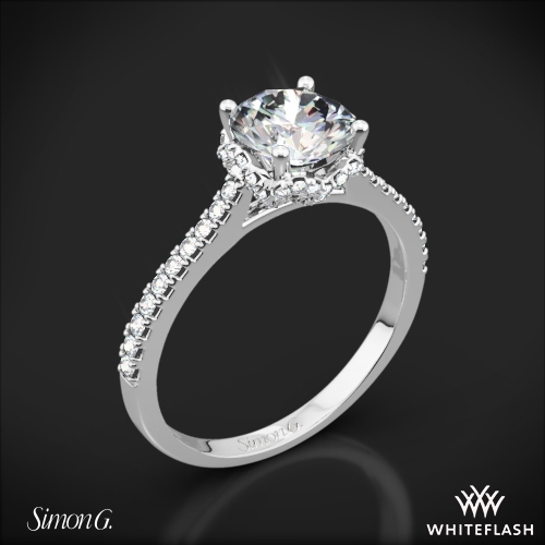Simon G. MR2478 Caviar Diamond Engagement Ring