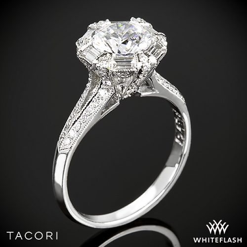 Tacori Simply Tacori Diamond Halo Engagement Ring