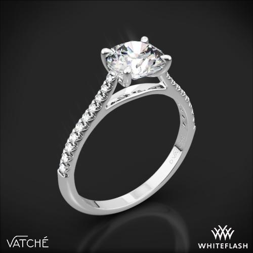 Vatche 1544 Mia Pave Diamond Engagement Ring