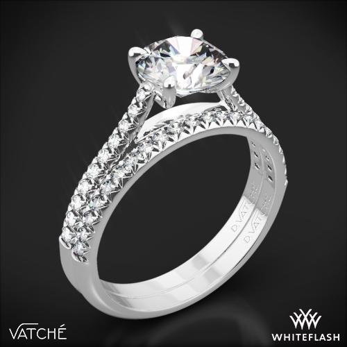 Vatche 1544 Mia Pave Diamond Wedding Set