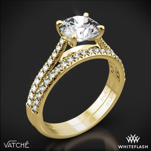 Vatche 1544 Mia Pave Diamond Wedding Set