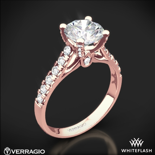 Verragio ENG-0375 4 Prong Pave Diamond Engagement Ring