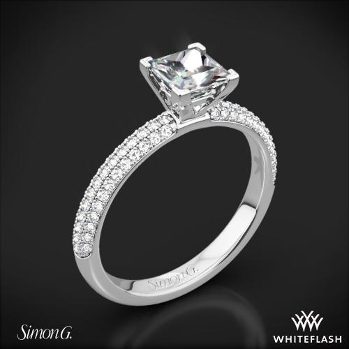 Simon G. LP1935-D Delicate Diamond Engagement Ring for Princess 1 ...