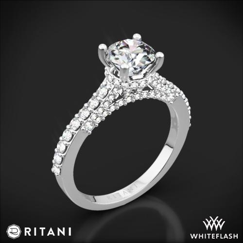 Ritani 1RZ1320 French-Set Diamond Engagement Ring
