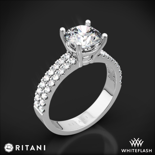 Ritani 1RZ1324 Double French-Set Diamond Engagement Ring