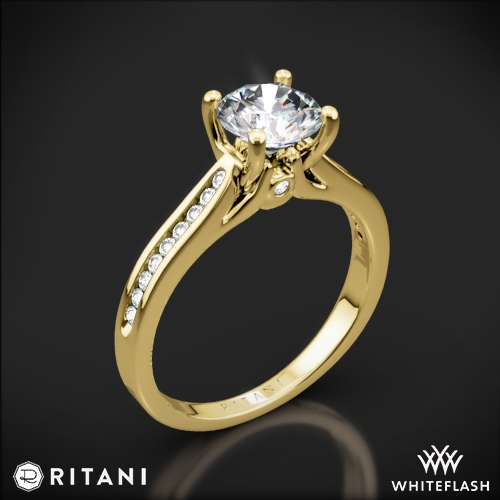 Ritani 1RZ2487 Channel-Set Diamond Engagement Ring