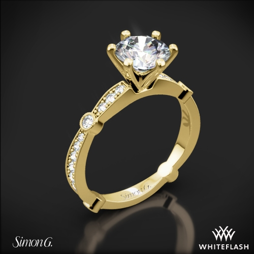 Simon G. MR1546 Delicate Diamond Engagement Ring