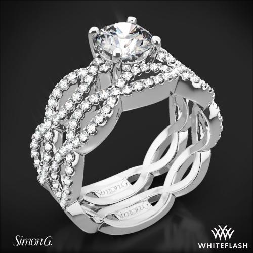 Simon G. MR1596 Fabled Diamond Wedding Set