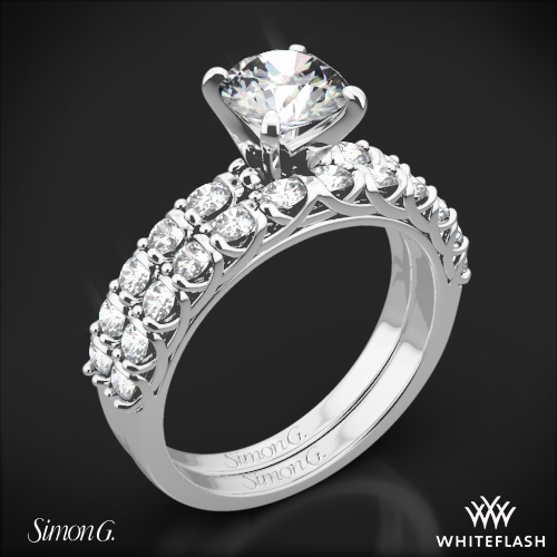 Simon G. MR2492 Caviar Diamond Wedding Set