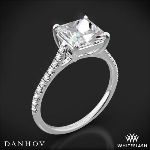 Danhov CL138P Classico Single Shank Diamond Engagement Ring for Princess