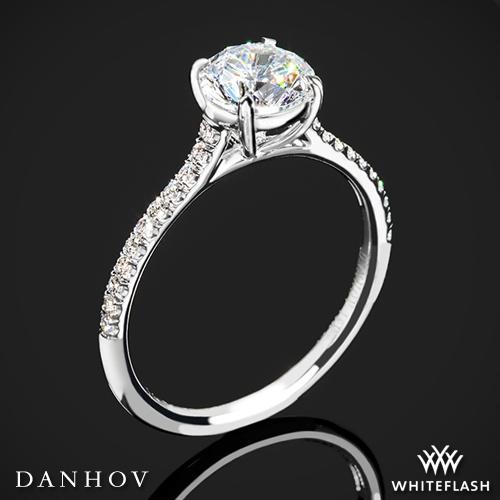 Danhov CL138 Classico Single Shank Diamond Engagement Ring