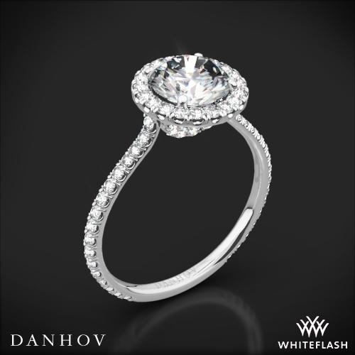Danhov LE112 Per Lei Diamond Halo Engagement Ring