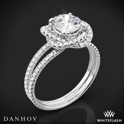 Danhov SE100 Solo Filo Double Shank Diamond Engagement Ring