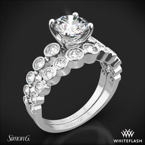 Simon G. MR2692 Caviar Diamond Wedding Set