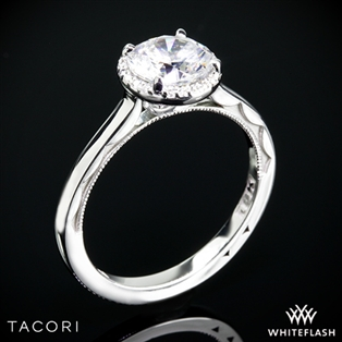 Tacori 49RD65 Sculpted Crescent Solitaire Engagement Ring