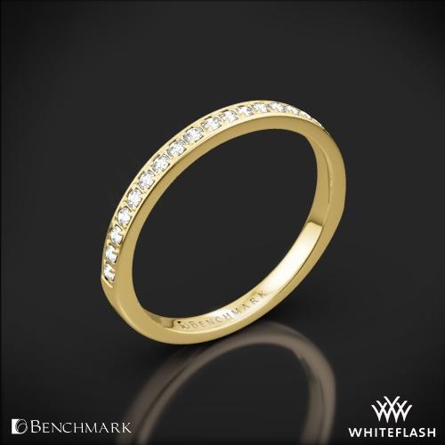 Benchmark LCPA1 Small Pave Diamond Wedding Ring