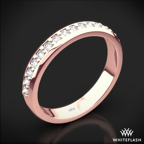 Cathedral Pave Diamond Wedding Ring