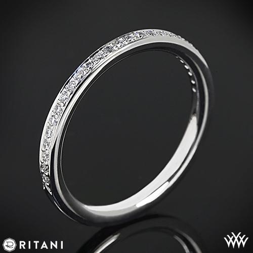Ritani 21694 Micropavé Diamond Wedding Ring