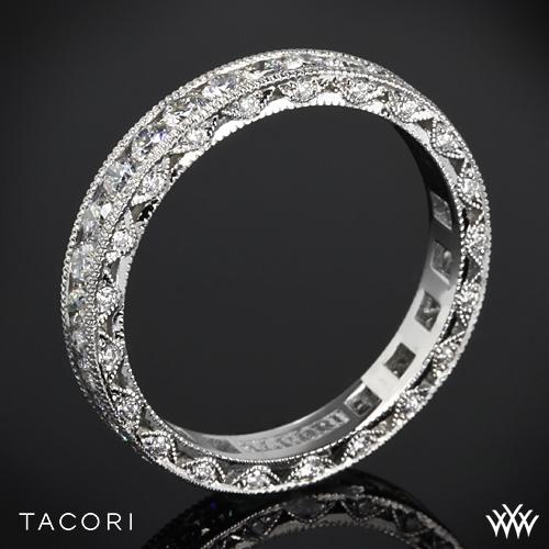 Tacori HT2607B RoyalT Eternity Millgrain Diamond Wedding Ring