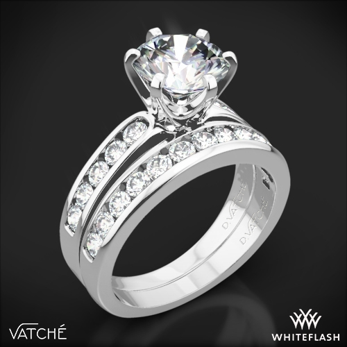 Vatche 1020 6-Prong Channel Diamond Diamond Wedding Set
