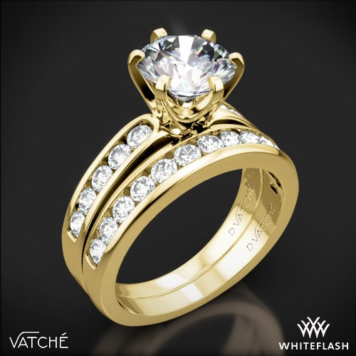 Vatche 1020 6-Prong Channel Diamond Diamond Wedding Set