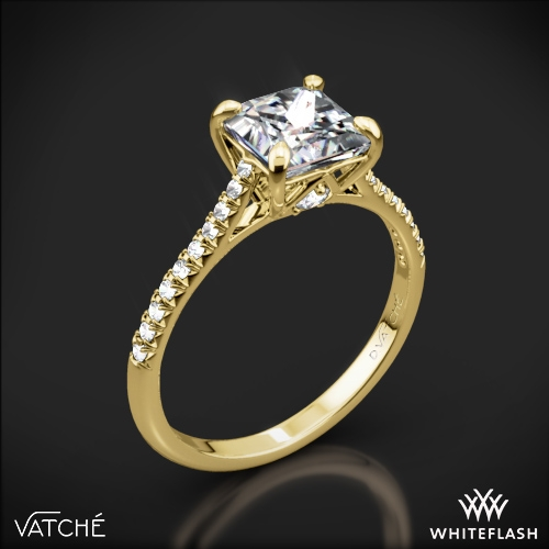 Vatche 1506 Inara Pave Diamond Engagement Ring for Princess