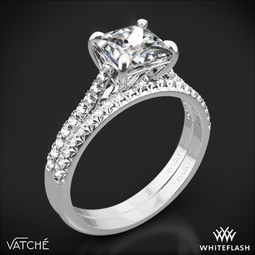 Vatche 1506 Inara Pave Diamond Wedding Set for Princess