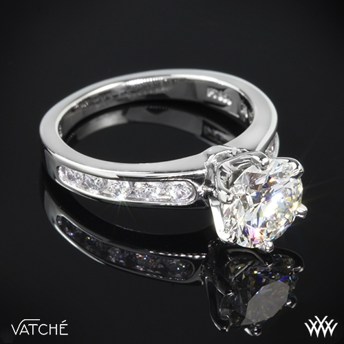 "Vatche 6 Prong ""Channel"" Diamond Engagement Ring"
