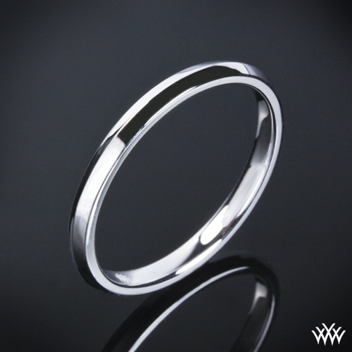 """Knife-Edge"" Wedding Ring"
