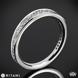 Ritani 92378ARP Pavé Diamond Wedding Ring