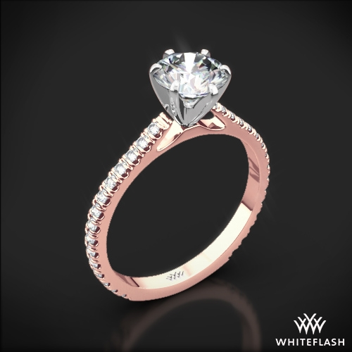 b1cfb1f86 Cathedral Three Quarter French-Set Eternity Diamond Engagement Ring 1 ...