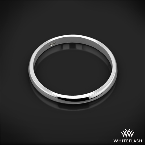 18k White Gold Knife-Edge Wedding Ring