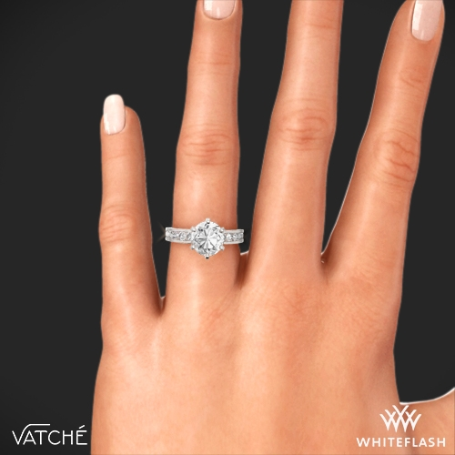 Vatche 6 G Channel Diamond Engagement Ring 7
