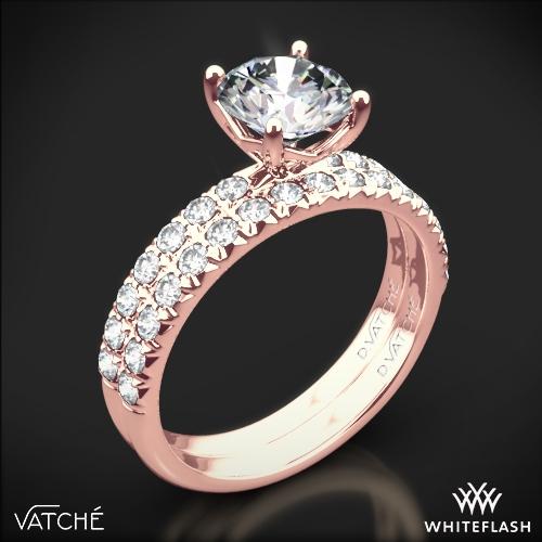 Vatche 1533 Charis Pave Diamond Wedding Set